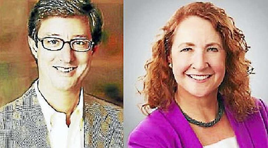 Republican 5th District candidate Clay Cope, and U.S. Rep. Elizabeth Esty, D-5 Photo: Digital First Media