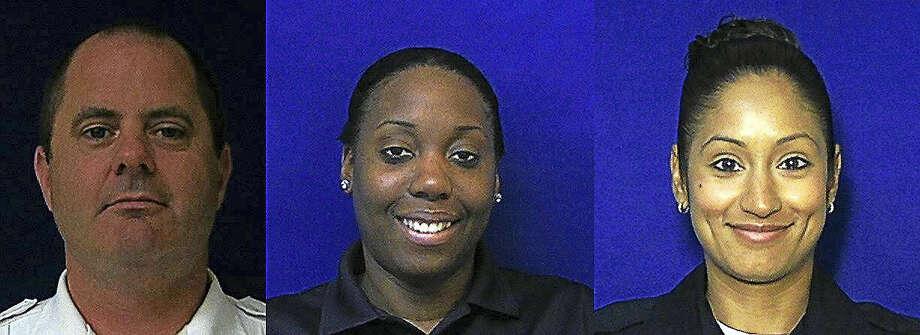 From left, New Haven police Lt. Brendan Hosey, Detective Dana Martin and Officer Lizmarie Almedina Photo: Digital First Media