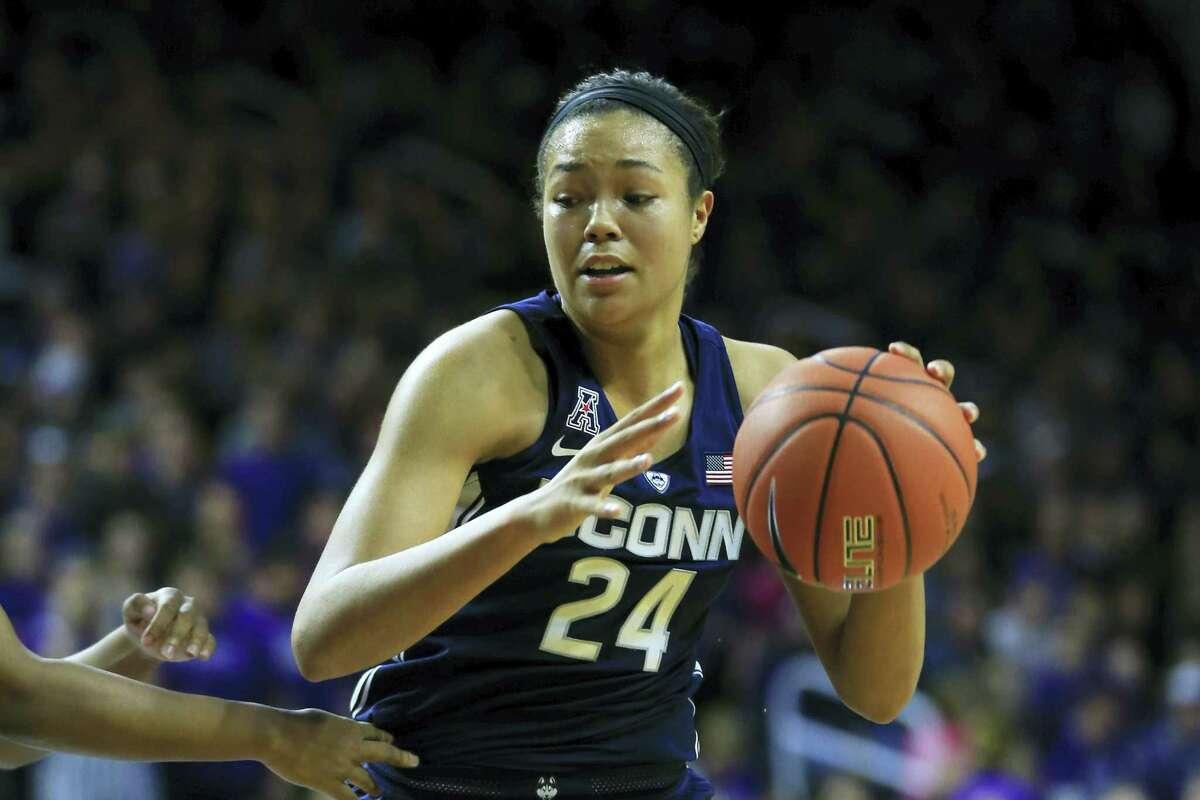 UConn's Napheesa Collier is the Huskies second leading scorer behind teammate Katie Lou Samuelson.