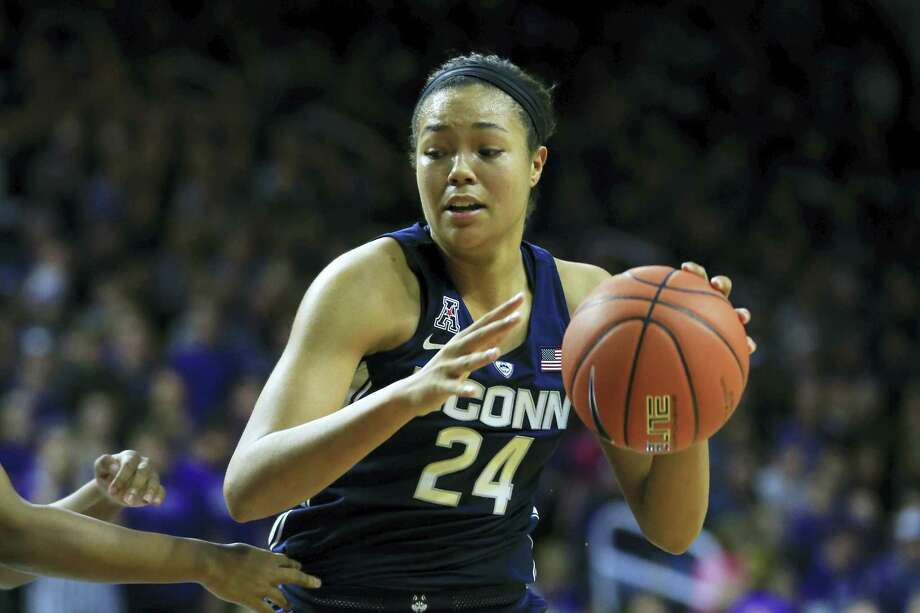 UConn's Napheesa Collier is the Huskies second leading scorer behind teammate Katie Lou Samuelson. Photo: The Associated Press File Photo   / Copyright 2016 The Associated Press. All rights reserved.