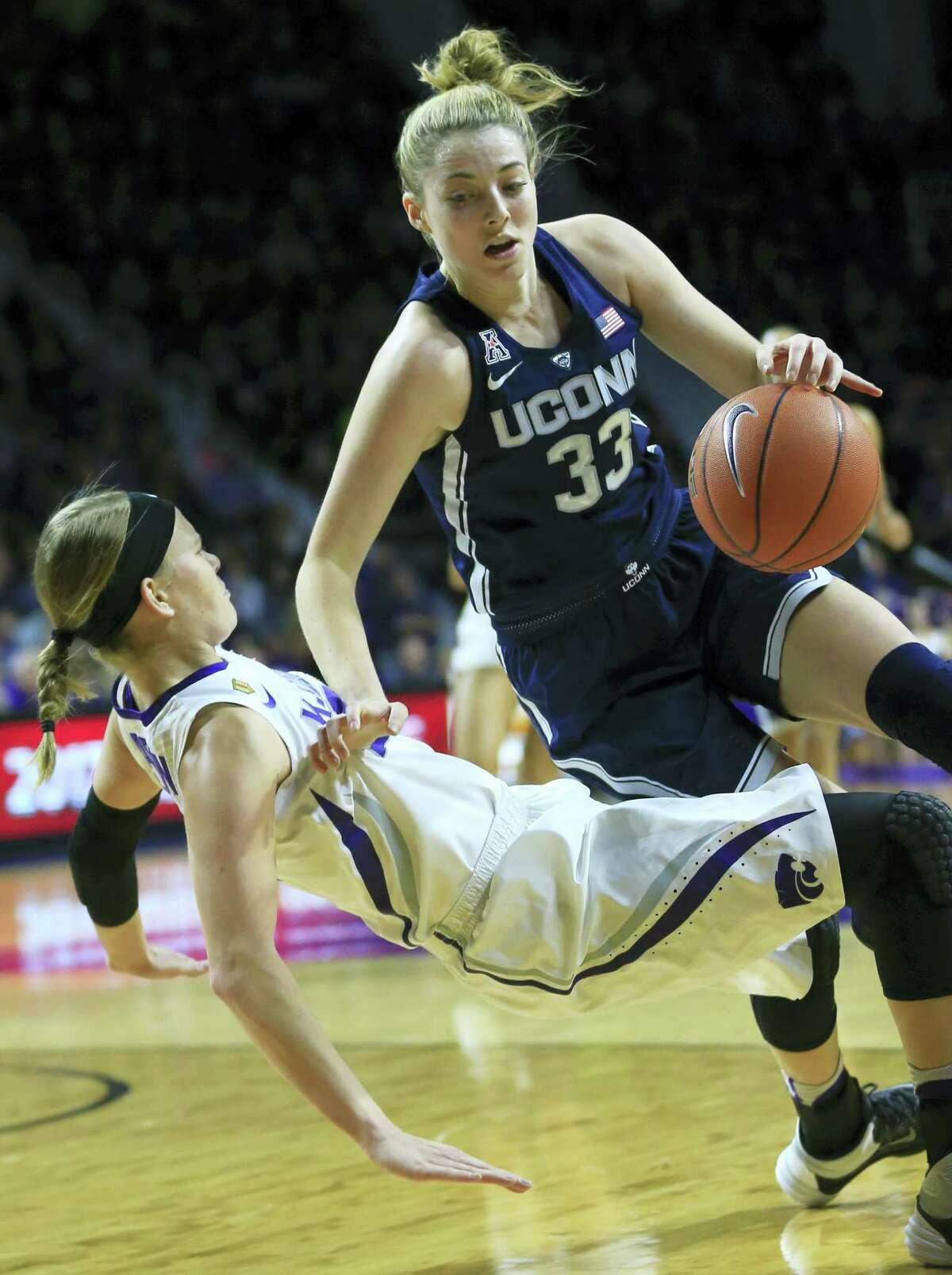 UConn guard Katie Lou Samuelson.