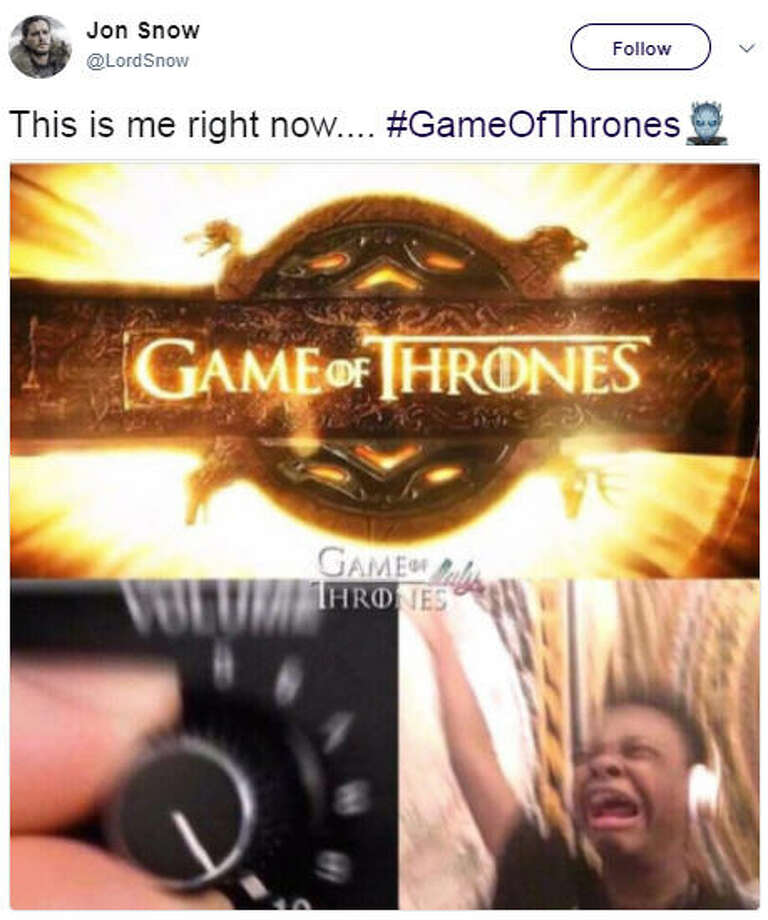 "PHOTOS: Fans react in shock to ""Game of Thrones"" with hilarious memes""This is me right now.... #GameOfThrones""Source: Twitter Photo: Twitter"