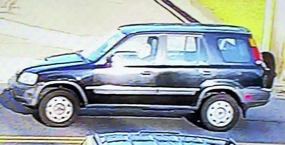 Ansonia police are looking for this small, dark-colored SUV that might be connected to a hit-and-run accident Wednesday on Wakelee Avenue. Photo: Courtesy Of Ansonia Police Department