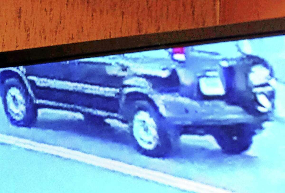Ansonia police are looking for this small, dark-colored SUV that might be connected to a hit-and-run accident Wednesday on Wakelee Avenue.