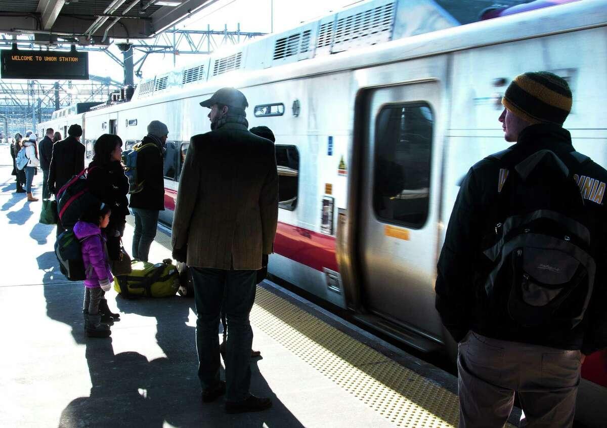 A Metro North train.