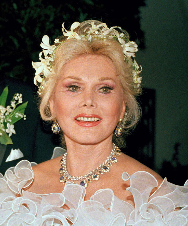 FILE- In an Aug. 15, 1986 file photo, actress Zsa Zsa Gabor is shown Los Angeles. Gabor died Sunday, Dec. 18, 2016, of a heart attack at her Bel-Air home, her husband, Prince Frederic von Anhalt, said. She was 99. (AP Photo/File) Photo: AP / AP2007