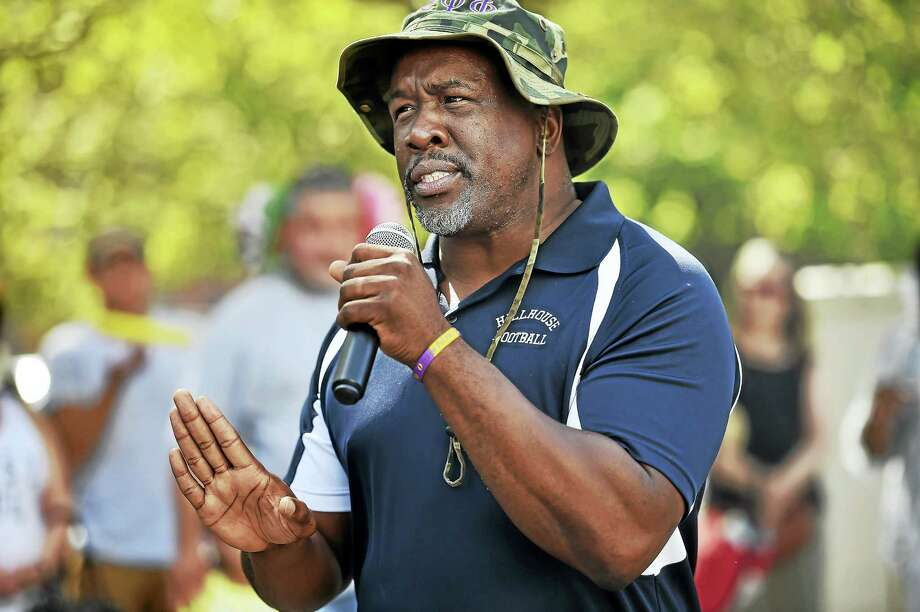 New Haven native and a graduate of Wilbur Cross High School Glen Worthy, the new principal at Hillhouse High School speaks at Hillhouse Lives Matter at the Bethel AME Church on Goffe Street in New Haven, Saturday, August 27, 2016. Photo: Catherine Avalone/New Haven Register / New Haven RegisterThe Middletown Press