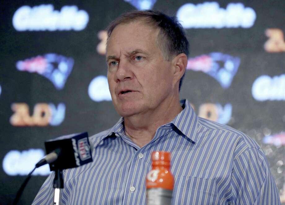 New England Patriots head coach Bill Belichick. Photo: The Associated Press File Photo   / AP