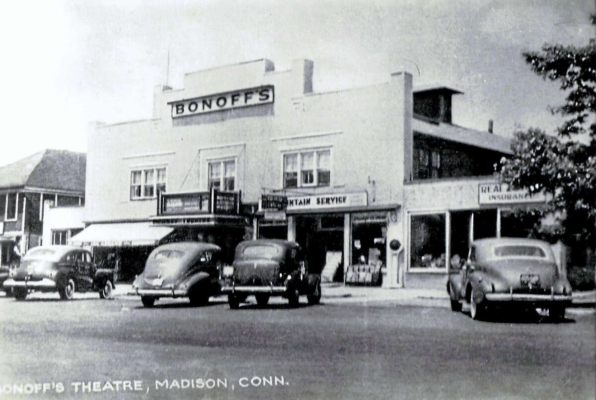 Bonoff's building on the north side of the Boston Post Road in downtown Madison in the 1930s. Today the Madison Arts Cinema, the Madison Coffee Shop and Silver Moon occupy the space. Photo courtesy of http://www.davisrealtyllc.com