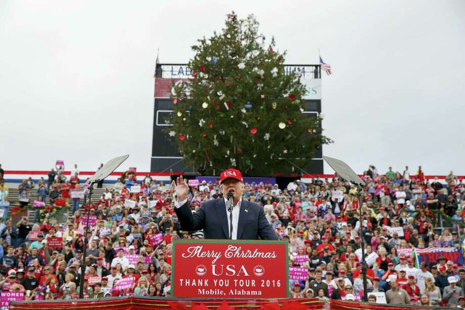 President-elect Donald Trump speaks during a rally at Ladd-Peebles Stadium, Saturday, Dec. 17, 2016, in Mobile, Ala. Photo: AP Photo/Evan Vucci    / Copyright 2016 The Associated Press. All rights reserved.