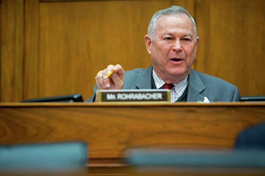 Rep. Dana Rohrabacher, R-Calif., in Washington, D.C., on March 26, 2015. Photo: Bloomberg Photo By Andrew Harrer. / © 2015 Bloomberg Finance LP