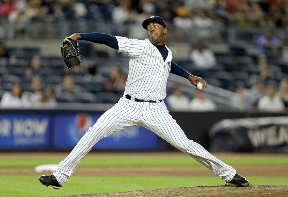 The Yankees traded relief pitcher Aroldis Chapman to the Cubs on Monday. Photo: The Associated Press FILE PHOTO   / FR110666 AP