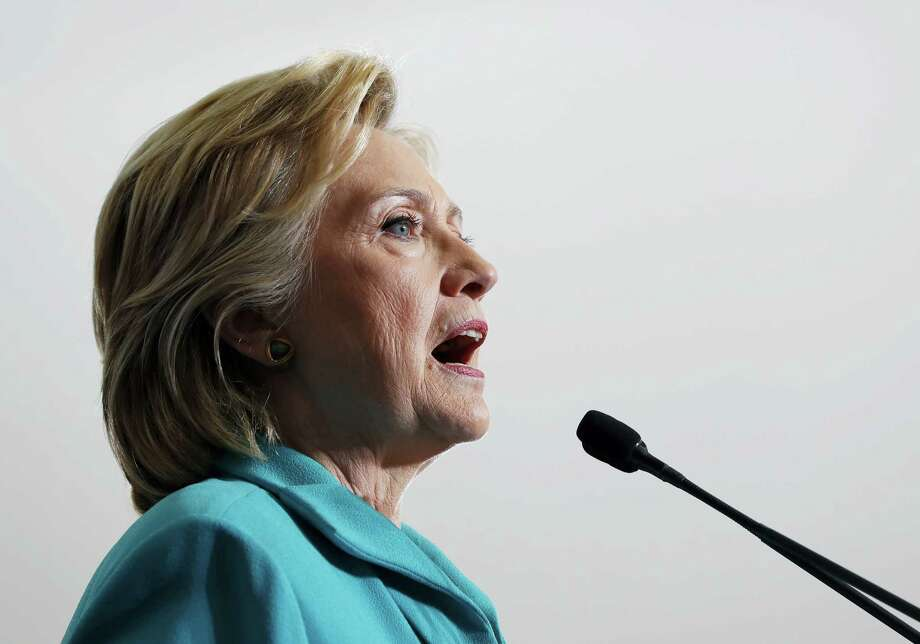 Democratic presidential candidate Hillary Clinton speaks during at a campaign event at Truckee Meadows Community College, in Reno, Nev., Thursday. Photo: The Associated Press   / AP