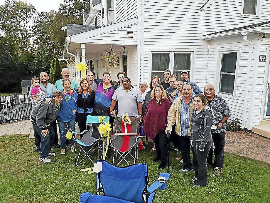 Friends and family of Linda Carman gathered at her Middletown home Saturday night to offer prayers for her safe return. She and her son Nathan Carman went missing Sept. 17 during a fishing trip that set off from Ram's Point Marina in Point Judith, Rhode Island. Nathan was rescued on Sunday when a passing merchant ship spotted him in a life raft at sea. Photo: Courtesy Sharon Factor Hartstein