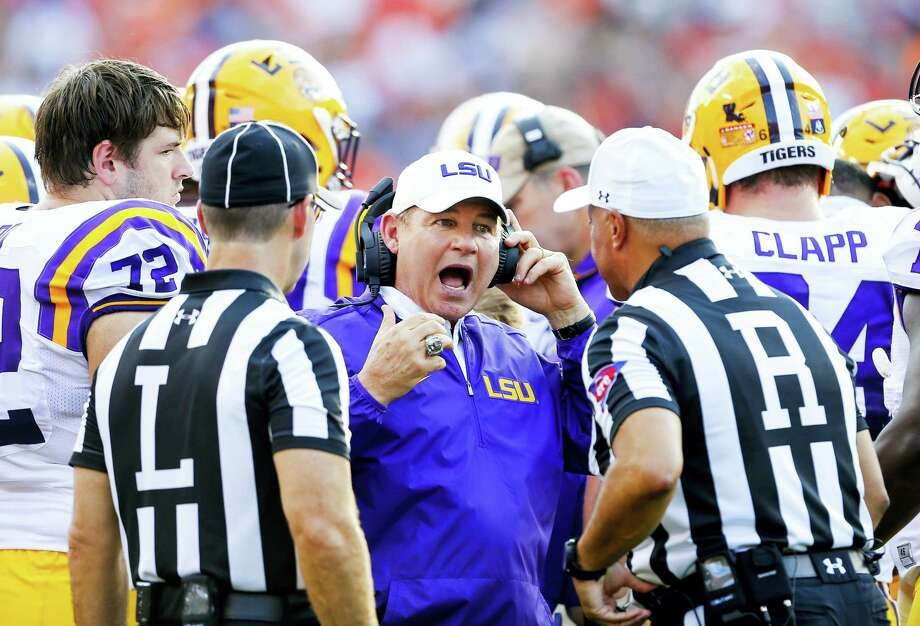 LSU fired head coach Les Miles on Sunday. Photo: The Associated Press File Photo   / Associated Press