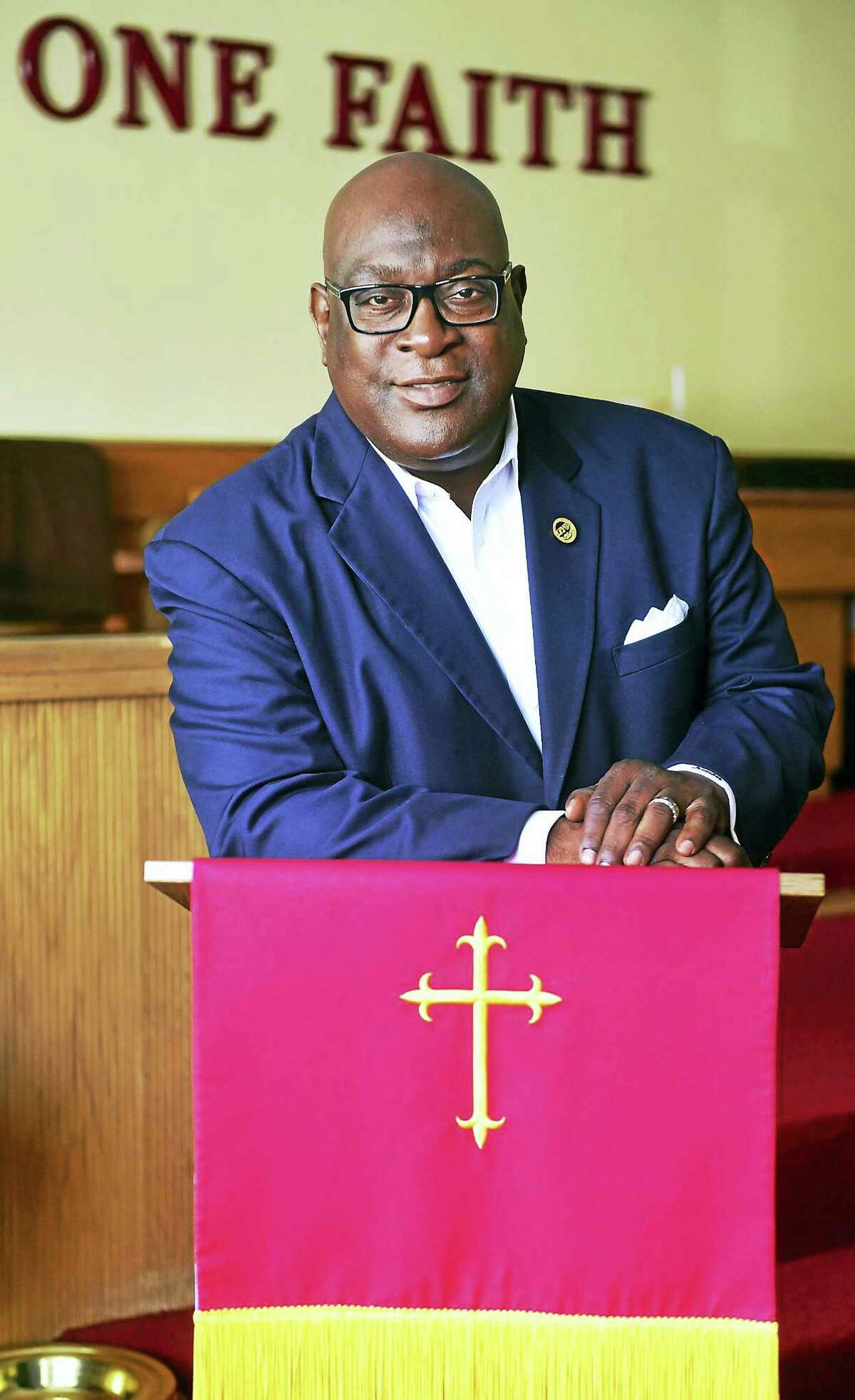 The Rev. Boise Kimber at the First Calvary Baptist Church in New Haven.