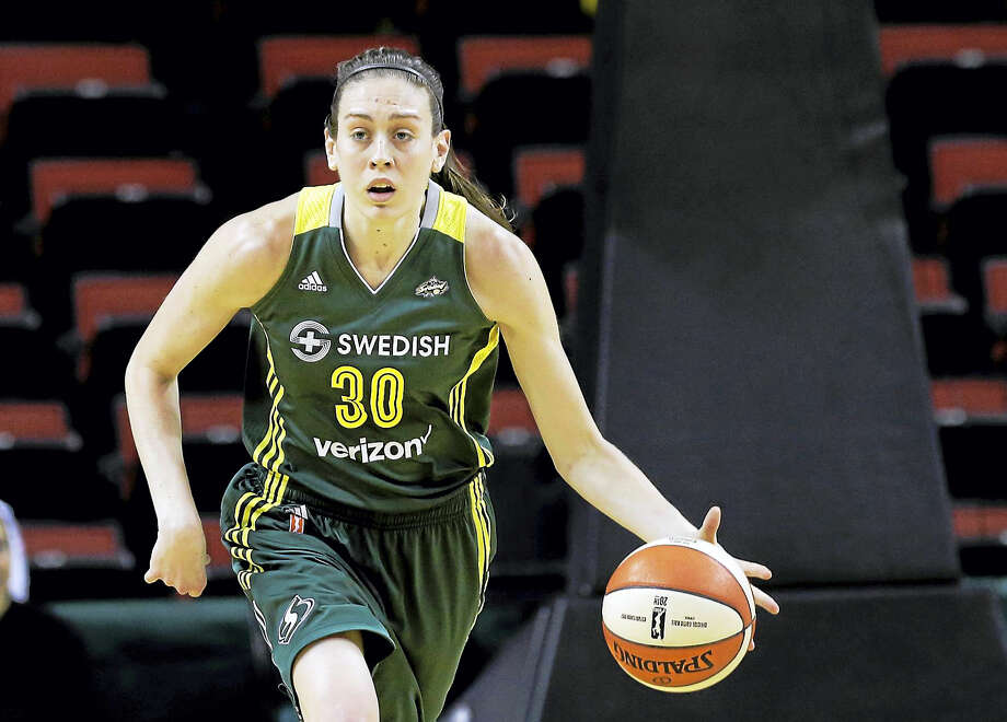 Breanna Stewart has the top-selling jersey in the WNBA. Photo: The Associated Press File Photo   / Copyright 2016 The Associated Press. All rights reserved. This material may not be published, broadcast, rewritten or redistribu
