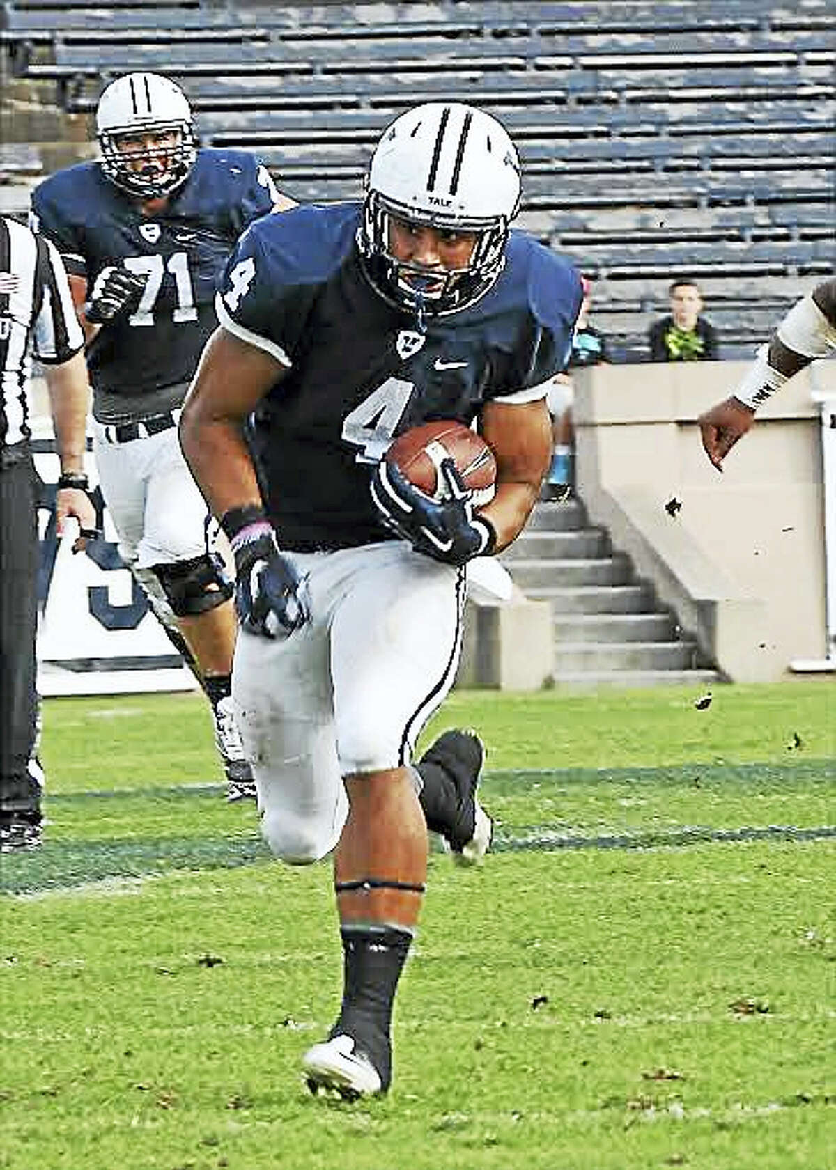 """Cheshire's Sebastian Little, a senior tight end at Yale, is a semifinalist for the """"Academic Heisman Trophy."""""""