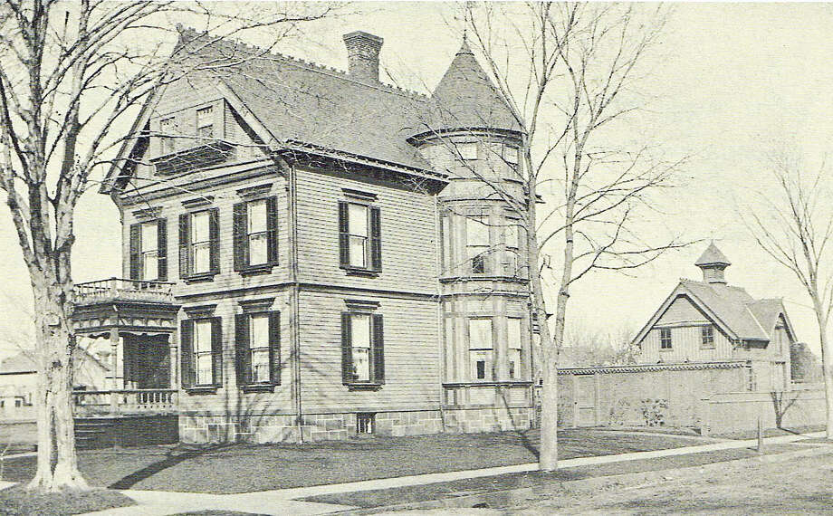 """Childhood Home at 1471 Chapel Street, New Haven, Connecticut; Built in 1884 for Levi Johnson and Edwards H. Parkhurst."" Photo: CONTRIBUTED"