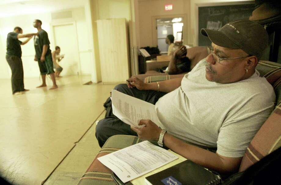 "This May 3, 2008 photo shows actor Bill Nunn, right, at a Point Park University rehearsal for his experimental project, dramatizing an African folktale, in Pittsburgh. Nunn, a veteran character actor whose credits ranged from the ""Spider-Man"" movie franchise to such Spike Lee films as ""Do the Right Thing"" and ""He Got Game,"" has died. His wife, Donna, said Nunn died Sept. 24, 2016 at his home in Pittsburgh. Photo: AP Photo/Keith Srakocic, File   / Copyright 2016 The Associated Press. All rights reserved."