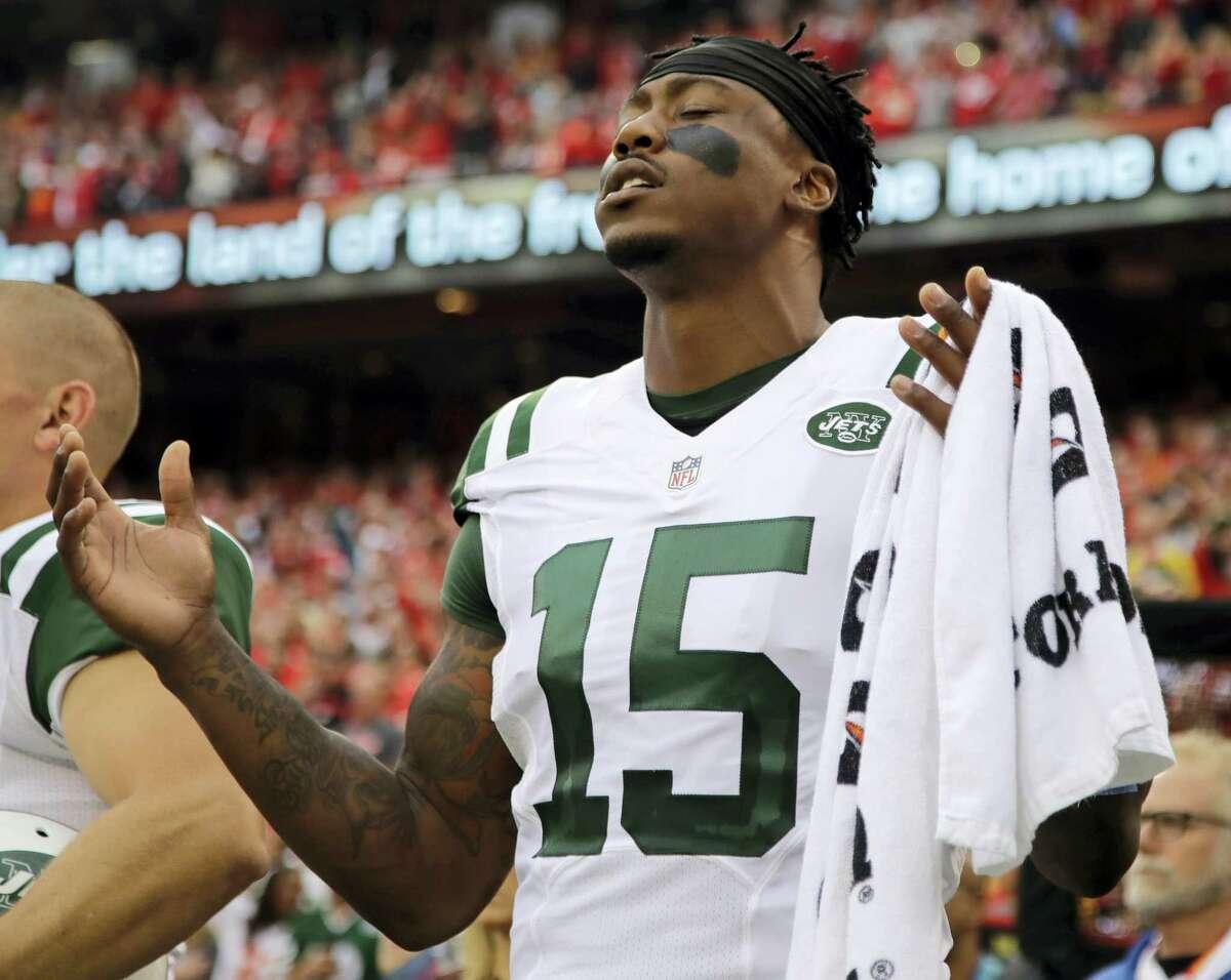 New York Jets wide receiver Brandon Marshall.