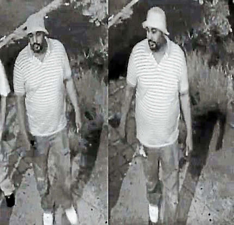 Police released these two photos of a suspect who is accused of shooting four people last weekend at the Highwood Bar & Grill. Photo: Photos Courtesy Of Hamden Police Department
