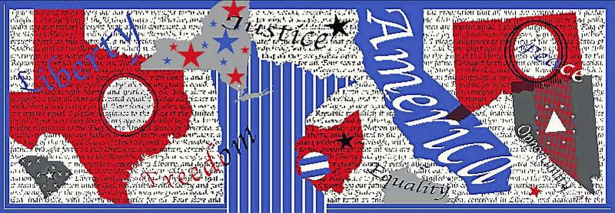 Americana scarf by Lois Goglia.