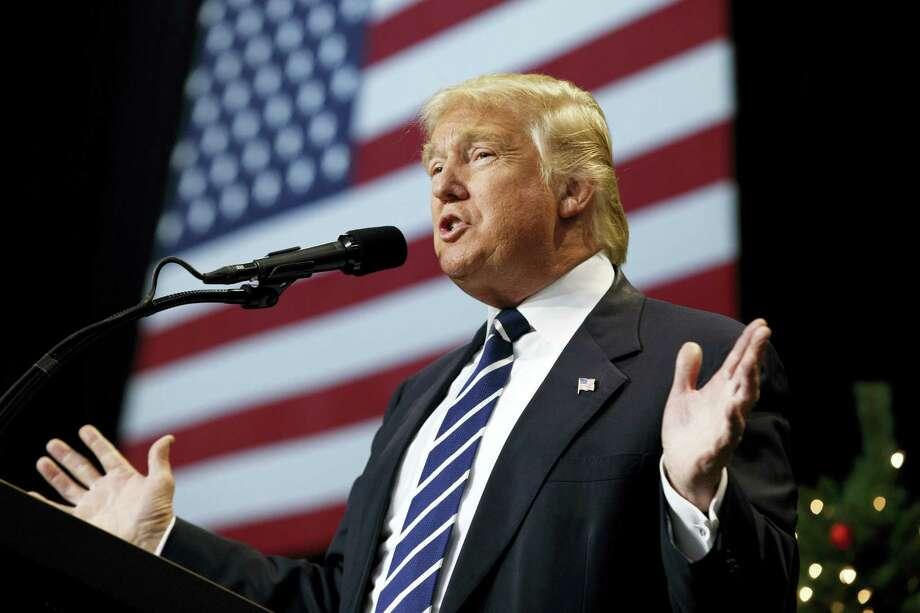 President-elect Donald Trump speaks during a rally at the Wisconsin State Fair Exposition Center in West Allis, Wis. Photo: Evan Vucci — AP Photo / Copyright 2016 The Associated Press. All rights reserved.