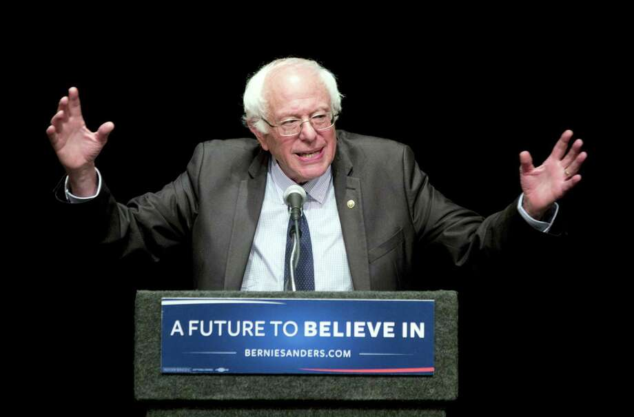In this June 24, 2016, file photo, Sen. Bernie Sanders, I-Vt., speaks in Albany, N.Y. Sanders plans to meet with 1,900 of his delegates right before the start of the Democratic National Convention on Monday, part of a series of meetings aimed at providing direction to his undecided supporters after he endorsed Hillary Clinton. Photo: AP Photo/Mike Groll, File    / Copyright 2016 The Associated Press. All rights reserved. This material may not be published, broadcast, rewritten or redistribu