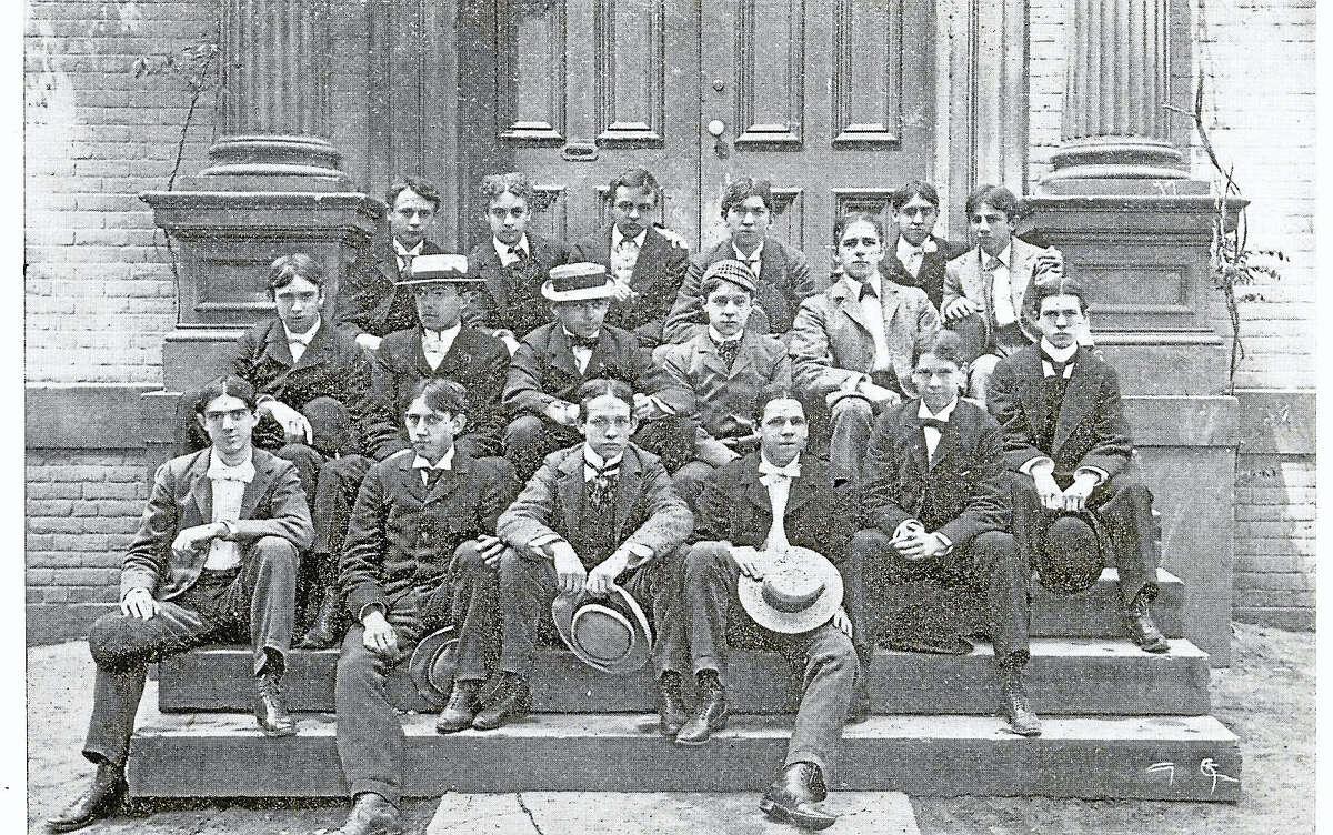 J. Walter Bassett's graduating class from Hopkins Grammar School, 1896.