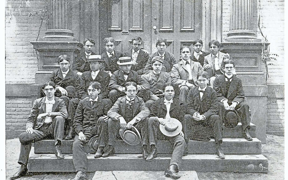 J. Walter Bassett's graduating class from Hopkins Grammar School, 1896. Photo: Paul Keane