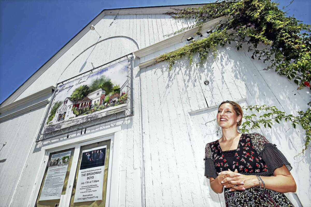 Co-founder and artistic director of the Legacy Theatre, Keely Baisden Knudsen, of Guilford is photographed Thursday, July 14, 2016, at the historic landmark, the Stony Creek Puppet Theatre, at 128 Thimble Islands Road in Branford.