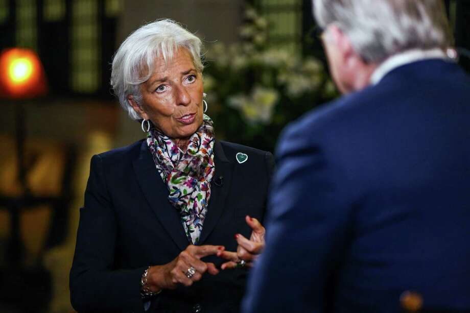 IMF Managing Director Christine Lagarde during a Bloomberg Television interview at the Federal Reserve in New York, on Monday, July 18, 2016. Photo: Bloomberg Photo By Chris Goodney    / © 2016 Bloomberg Finance LP