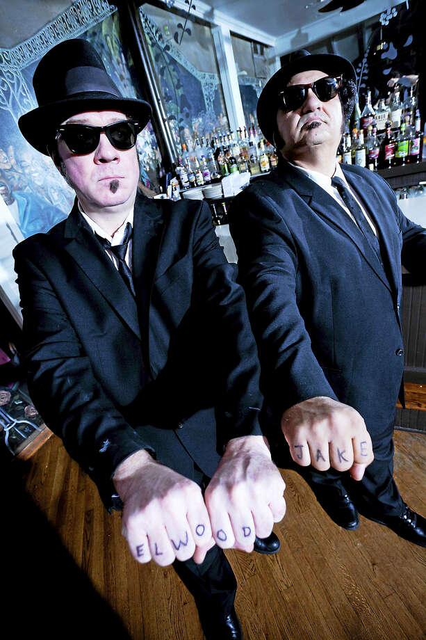"Kieron Lafferty, left, as ""Elwood Blues"" and Wayne Catania as ""Joliet Jake."" Photo: Contributed"