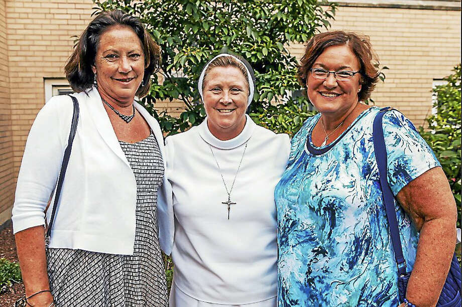 Sacred Heart Academy in Hamden welcomed Sister Kathleen Mary Coonan with a reception Monday Evening. Sister Coonan is the new principal of the private catholic school. Photo: Photos By John Vanacore For The Register