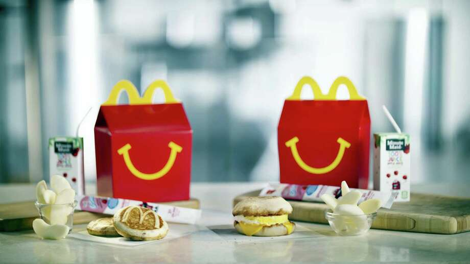 This photo provided by McDonald's shows a breakfast Happy Meal. Photo: McDonalds Via AP   / McDonalds