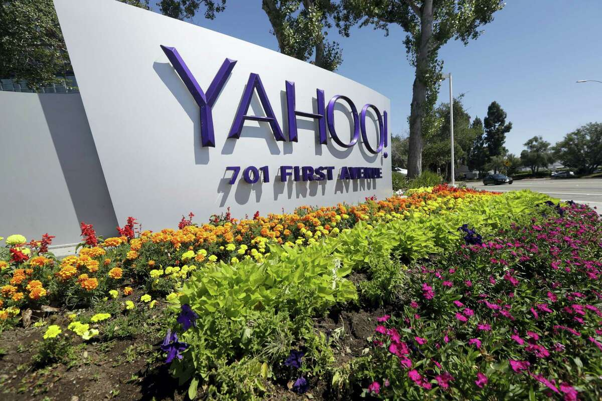 A Yahoo sign at the company's headquarters in Sunnyvale, Calif. On Wednesday, Dec. 14, 2016, Yahoo said it believes hackers stole data from more than one billion user accounts in August 2013.