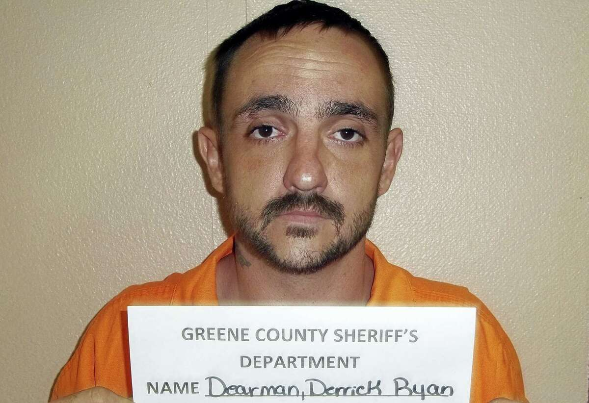 A photo provided by the Greene County Sheriff's Department shows Derrick Dearman, a suspect in the Saturday massacre of five adults in Citronelle Ala. Dearman, of Leakesville, Mississippi, will be charged with six counts of capital murder, Mobile County sheriff's spokeswoman Lori Myles said Sunday, Aug. 21, 2016.