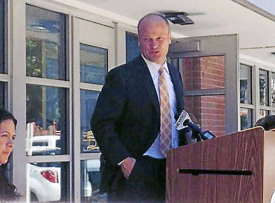 "Brian Zahn — New Haven Register   Superintendent of Schools Garth Harries announces the launch of the ""Start Strong"" campaign. Photo: Journal Register Co."