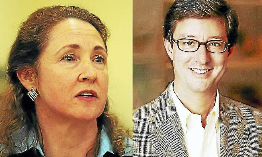 U.S. Rep. Elizabeth Esty, D-5, and Republican 5th District candidate Clay Cope Photo: Digital First Media