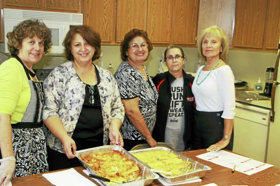 From left, Toula Antoniou, Leta Bertsos, Christina Antoniou, Fotini Korosiotis and Mary Zafiris of the Ladies Philoptochos Society of St. Basil's Greek Orthodox Church. Photo: Contributed