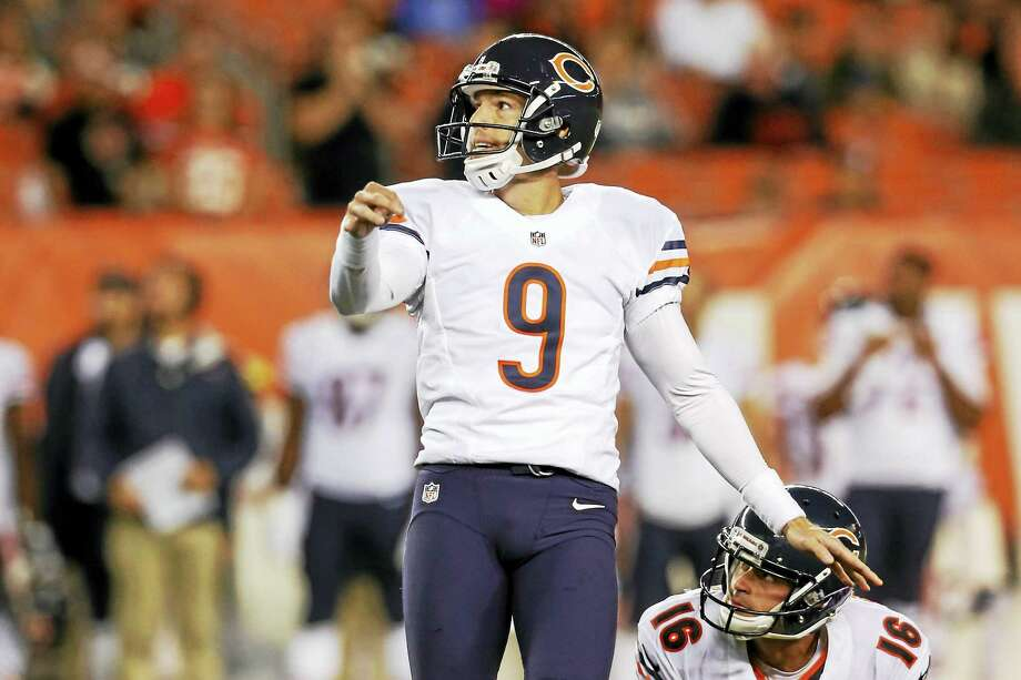 Former Chicago Bears kicker Robbie Gould will suit up for the Giants Sunday in London. Photo: The Associated Press File Photo   / AP