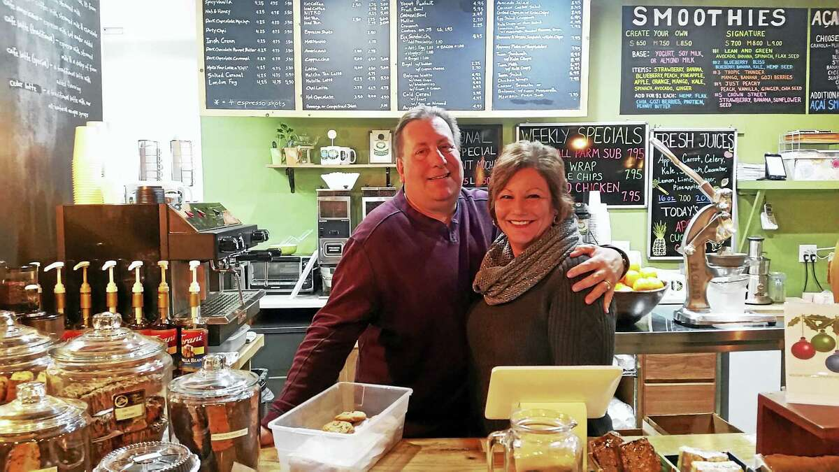 Tom and Teri, husband and wife co-owners of Cedarhurst Cafe on Crown Street, wrapping up after the Downtown Cookie Crawl.