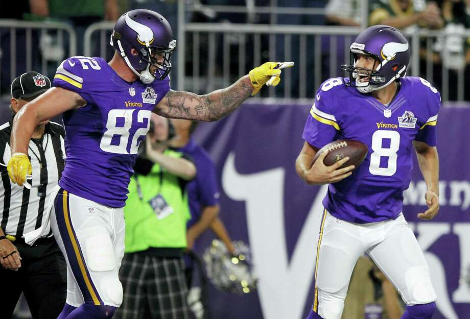 The Register's Dan Nowak is banking on the favorites in Week 7, and that includes the unbeaten Vikings. Photo: The Associated Press File Photo   / FR51399 AP