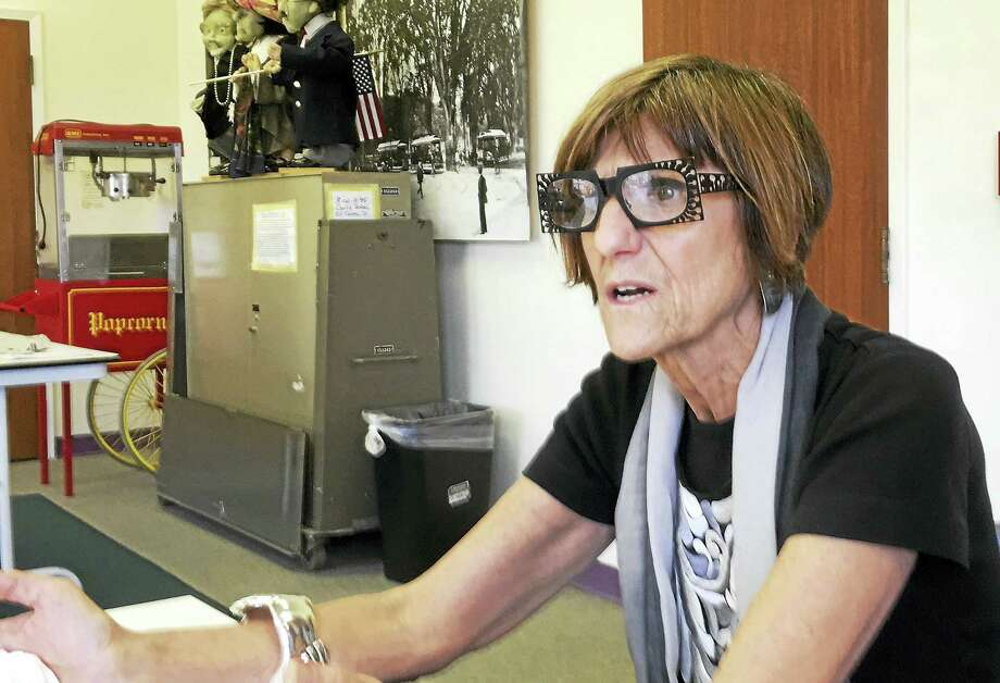 U.S. Rep. Rosa DeLauro speaks to reporters in her New Haven office Thursday. Photo: ED STANNARD — NEW HAVEN REGISTER
