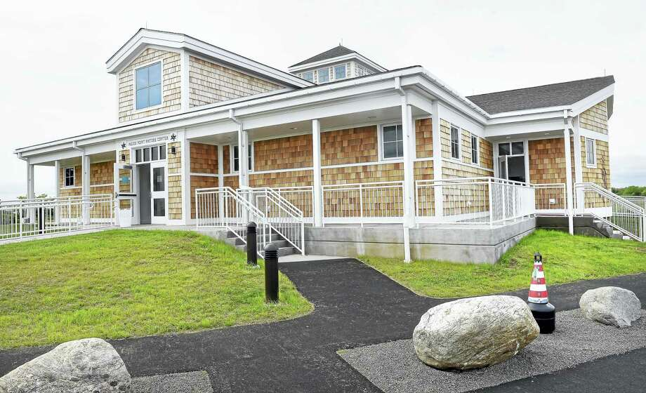 The new Meigs Point Nature Center at Hammonasset Beach State Park in Madison in June. Photo: Arnold Gold — New Haven Register