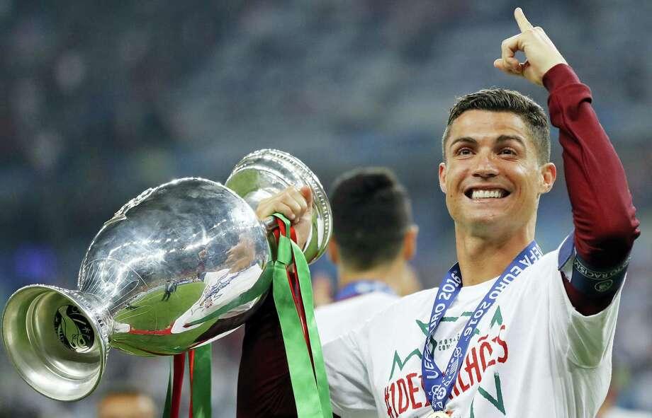 Cristiano Ronaldo won the Ballon d'Or award on Monday. Photo: The Associated Press File Photo   / Copyright 2016 The Associated Press. All rights reserved.