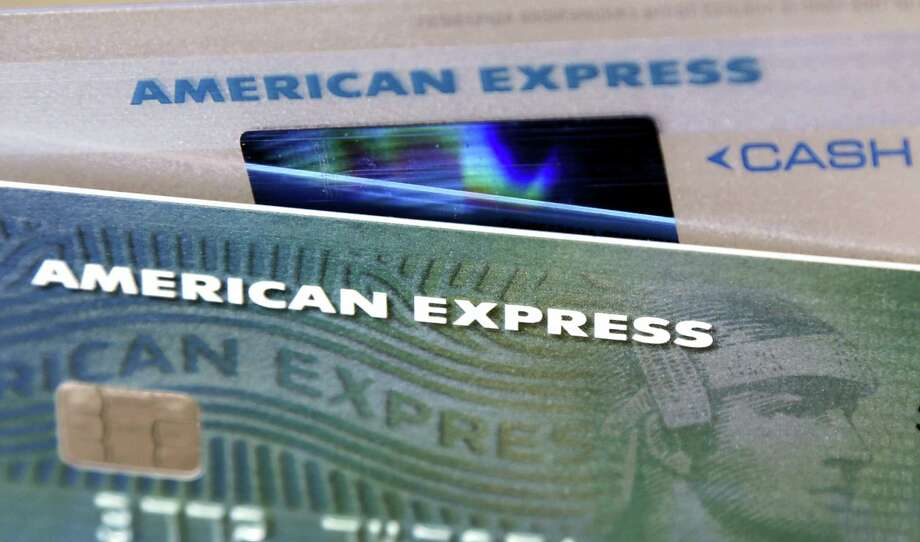 This Monday, July 18, 2016 photo shows American Express credit cards, in North Andover, Mass. American Express reports financial results on July 20, 2016. Photo: AP Photo/Elise Amendola   / AP