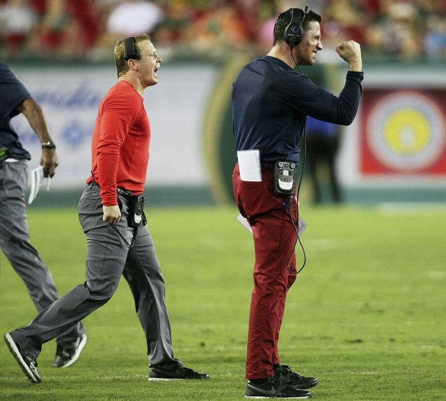 UConn head coach Bob Diaco. Photo: The Associated Press File Photo   / Tampa Bay Times