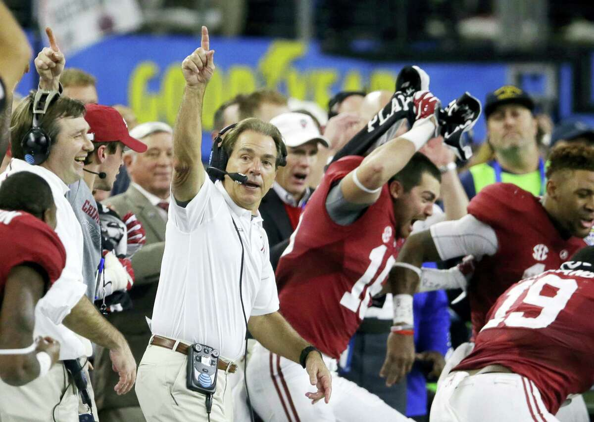 Head coach Nick Saban and Alabama were voted No. 1 in The Associated Press preseason Top 25 poll.